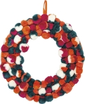 Pom Pom Bohemian Twist Wreath 16 Inch from Primitives by Kathy