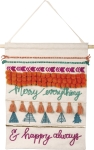 Merry Everything & Happy Always Chevron Design Cotton Wall Hanging from Primitives by Kathy