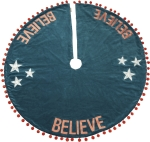 Star Design Believe Large Christmas Tree Skirt 52 Inch from Primitives by Kathy