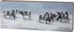 Holiday Snowy Cows Joy & Peace Decorative Wooden Box Sign 15 Inch x 6 Inch from Primitives by Kathy