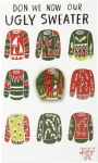 Don We Now Our Ugly Sweater Enamel Pin With Greeting Card from Primitives by Kathy