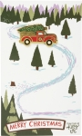 Christmas Truck & Tree Enamel Pin With Greeting Card from Primitives by Kathy