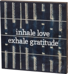 Inhale Love Exhale Gratitude String Art Slat Wooden Box Sign from Primitives by Kathy