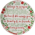 Holiday Themed This Plate Belongs To Everyone Decorative Stoneware Gifing Plate 12 Inch from Primitives by Kathy