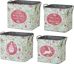 Set of 2 Christmas Themed Tin Buckets from Primitives by Kathy