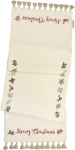Floral Design Merry Christmas Cotton Table Runner Cloth 52x15 from Primitives by Kathy