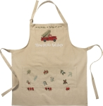 Christmas Tree Truck Home For The Holidays Cotton Apron from Primitives by Kathy