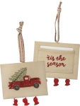'Tis The Season Double Sided Hanging Ornament from Primitives by Kathy