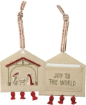 Joy To The World Double Sided Hanging Ornament from Primitives by Kathy