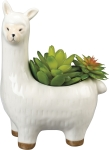 Decorative Ceramic Llama Planter from Primitives by Kathy