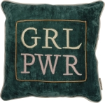 Girl Power Velvet Throw Pillow 15x15 from Primitives by Kathy