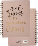 Real Queens Fix Other's Crowns Spiral Notebook (120 Lined Pages) from Primitives by Kathy