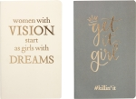 Women With Vision & Get It Girl Notebook Set (80 Pages Each) from Primitives by Kathy