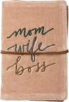 Mom Wife Boss Luxe Velvet Journal (48 Pages) from Primitives by Kathy