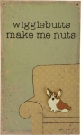 Corgi Wigglebutts Make Me Nuts Enamel Pin With Greeting Card from Primitives by Kathy