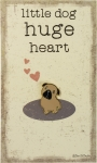 Pug Little Dog Huge Heart Enamel Pin With Greeting Card from Primitives by Kathy