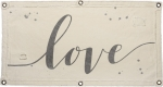 Decorative Canvas Love Wall Banner Sign 40x20 from Primitives by Kathy