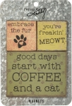 Cat Lover Refrigerator Magnet Set (Set Of 3) from Primitives by Kathy
