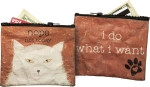 Nope Not Today I Do What I Want Cat Zipper Wallet Travel Pouch from Primitives by Kathy