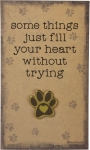 Dog Lover Paw Print Fill Your Heart Enamel Pin With Greeting Card from Primitives by Kathy