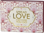 Red & Pink Floral Design Spread Love Everywhere You Go Decorative Wooden Block Sign from Primitives by Kathy