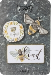 Bumblebee Bee Happy Bee Kind Refrigerator Magnet Set (Set of 3) from Primitives by Kathy