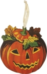 Retro Inspired Jack-O-Lantern Pumpkin Hanging Wooden Wall Décor from Primitives by Kathy