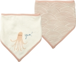 Octopus Themed Bandana Style Cotton Baby Bib Set (Set of 2) from Primitives by Kathy