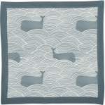 Blue Whales & Waves Design Super Soft Cotton Swaddling Security Blanket 16x16 from Primitives by Kathy