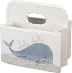 Blue Whale Design Cotton Diaper Caddy from Primitives by Kathy