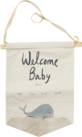 Welcome Baby Wall Décor Banner from Primitives by Kathy