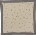 Gray Stars Design Super Soft Cotton Swaddling Security Blanket 16x16 from Primitives by Kathy
