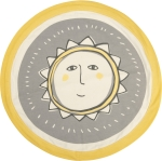 Super Soft Cotton Smiling Sun Swaddling Security Blanket 16 Inch from Primitives by Kathy