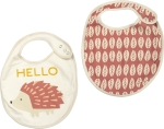 Pink Hello Hedgehog Cotton Baby Bib Set (Set of 2) from Primitives by Kathy