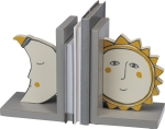 Sun And Moon Wooden Bookends Set from Primitives by Kathy