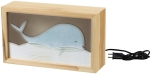Nursery Blue Whale Themed Wooden Lighted Box from Primitives by Kathy