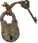 Antiqued Lock and Key Décor Piece from Primitives by Kathy