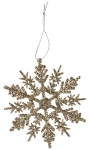 Gold Glitter Snowflake Hanging Christmas Ornament 3x3 from Primitives by Kathy