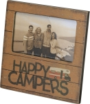Happy Campers Decorative Plaque Photo Picture Frame (Holds 5x3 Photo) from Primitives by Kathy