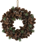 Pinecone Bell & Berry Decorative Wreath 14 Inch from Primitives by Kathy