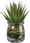 Glass Jar Planter With Artificial Aloe Succulent from Primitives by Kathy