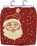 Vintage Santa Face Design Cotton Dish Towel 28x28 from Primitives by Kathy