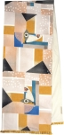 Geometric Colorful Face Decorative Cotton Table Runner Cloth 72x14 from Primitives by Kathy