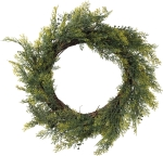 Festive Yew Greenery Wreath from Primitives by Kathy