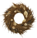 Large Egg Accents Wreath With Feathers 17 Inch from Primitives by Kathy