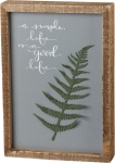 A Simple Life Is A Good Life Decorative Inset Box Sign 7x10 from Primitives by Kathy