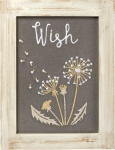 Dandelion Wish Framed Stitched Wall Décor Sign from Primitives by Kathy