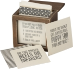 Girls Night Game Ask Me Anything in Keepsake Wooden Box from Primitives by Kathy