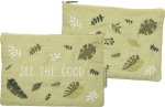 See The Good Cotton Linen Zipper Pouch Travel Bag from Primitives by Kathy