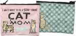 Stay At Home Cat Mom Zipper Wallet Travel Pouch from Primitives by Kathy